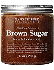 Brown Sugar Body Scrub for Cellulite and Exfoliation - Natural Body & Face Scrub - Reduces The Appearances of Cellulite, Stretch Marks, Acne, and Varicose Veins, 10 Ounces