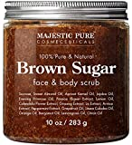 Brown Sugar Body Scrub for Cellulite and Exfoliation - Natural Body & Face Scrub - Reduces The Appearances of Cellulite, Stretch Marks, Acne, and Varicose Veins, 10 oz