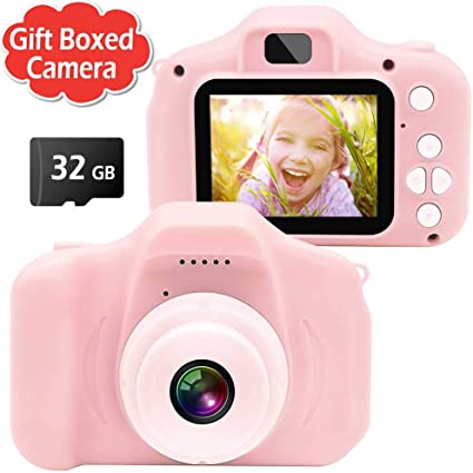 Amazon Com Gretex Gift Boxed Kids Camera Digital Camera For Kids Best Birthday Festival Gift For Age 3 4 5 6 7 8 9 10 Year Old Girls And Boys Best Toys Sports Outdoors