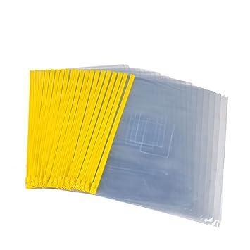 20PCS Transparente PVC Amarillo Deslizador Cierre Zip Bolsas ...