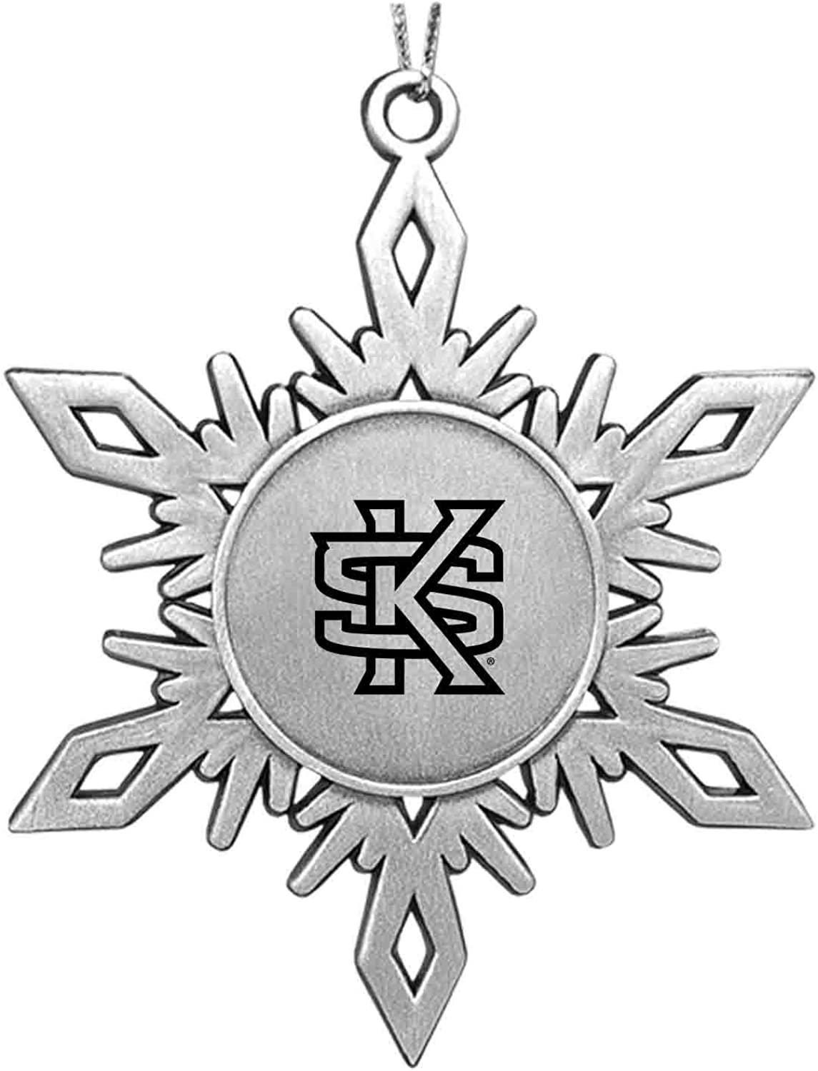 LXG, Inc. Kennesaw State University|Snowflake Ornament|Pewter