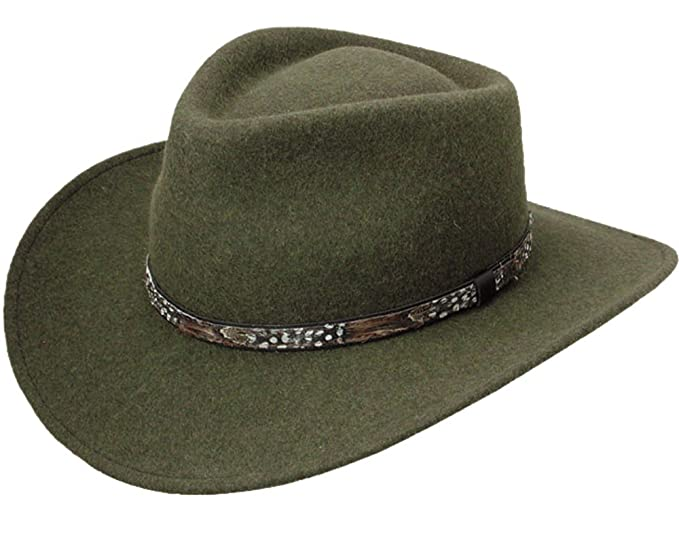 2df0eb0c2e4 Amazon.com  Stetson Expedition Crushable Wool Felt Hat  Clothing