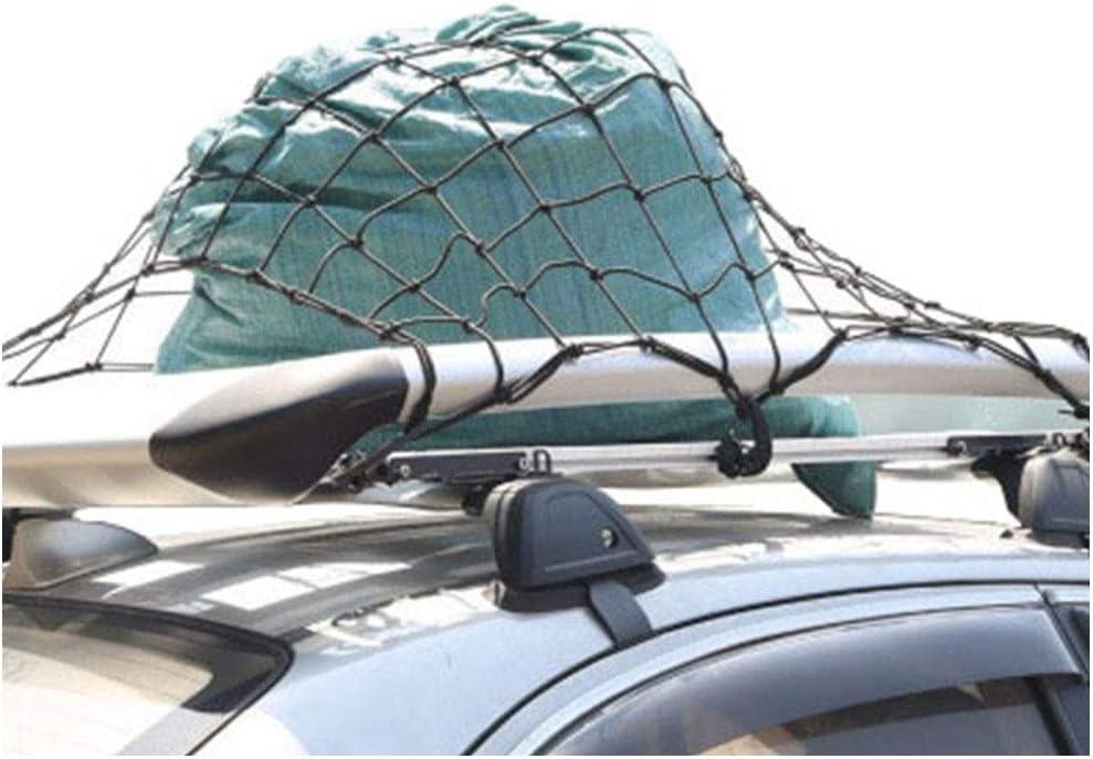 CZ-ING Car Roof Luggage Net Stretchable Large Capacity with Hooks Reusable Net Pocket
