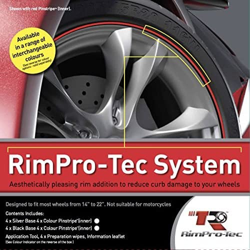 RimPro-Tec/® Wheelbands/™/• 4 x Black Base 4x Light Blue Pinstripes fits from 12 to a 22 wheels
