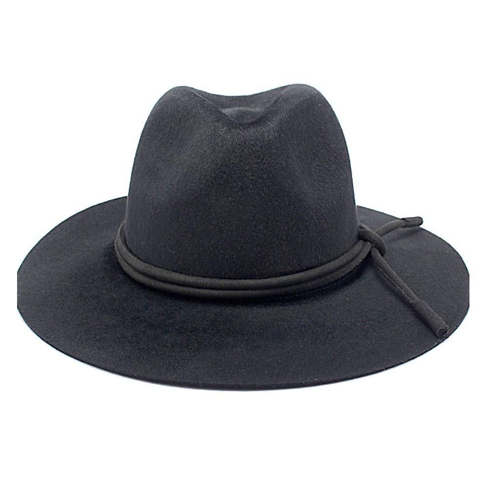 100/% Wool Women Outback Fedora Hat Winter Autumn Lady Floppy Cloche Wide Brim Jazz Caps USPANDI PANDI Hats