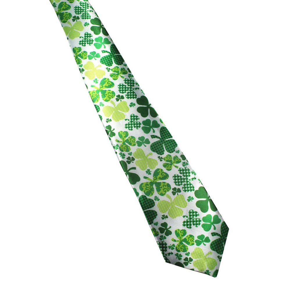 St. Patrick's Day Clover Fun Necktie Ties for Men (2)