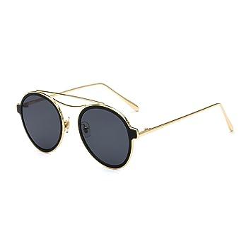 LXKMTYJ Tóner adolescentes gafas redondas de metal de doble ...