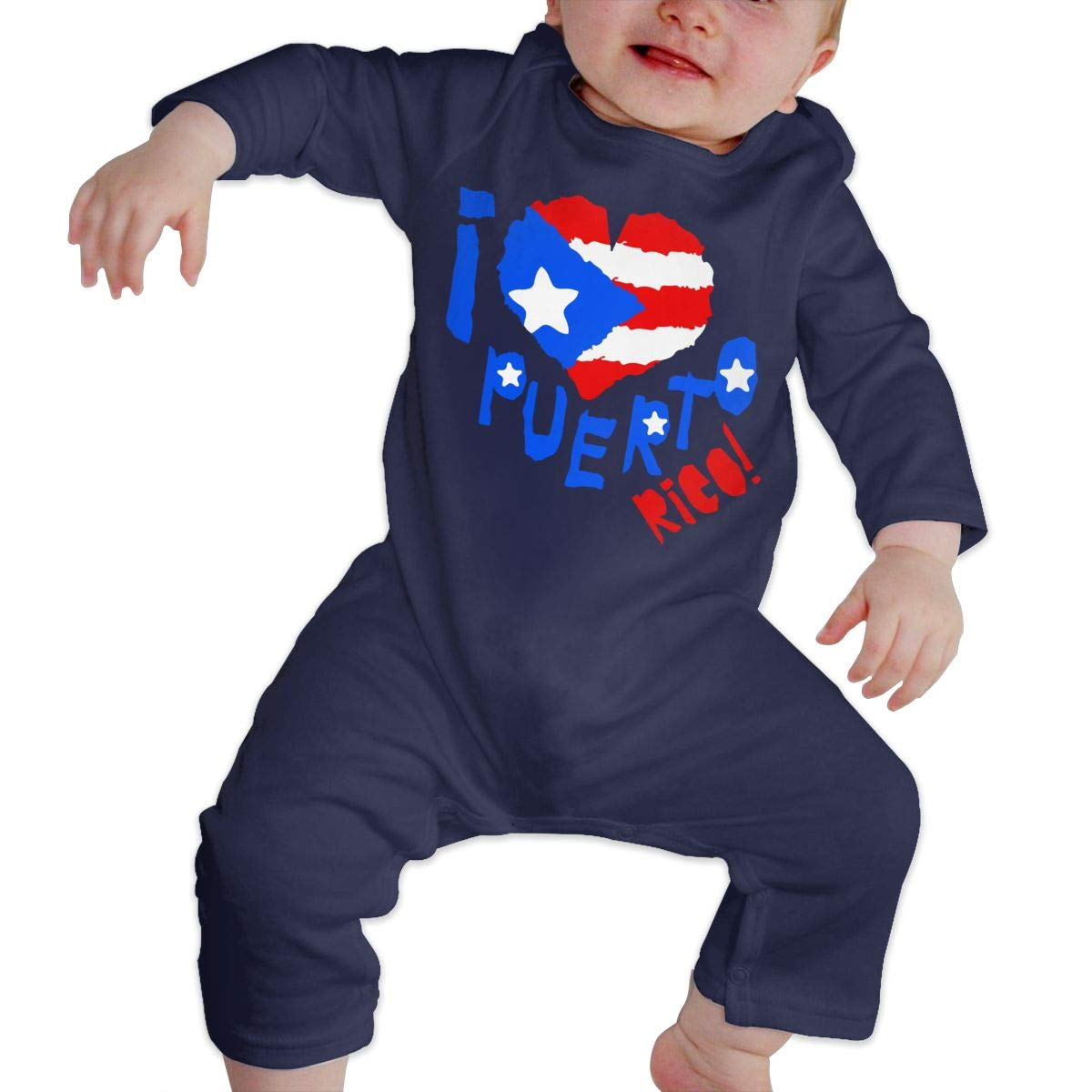 I Love Puerto Rico Baby Boys Organic Cotton Bodysuit Sleepwear