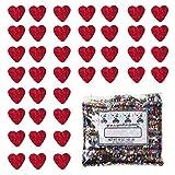Confetti Heart 1/4'' Prisma Red - Half Pound Bag (8 oz) FREE SHIPPING --- (CCP9088)