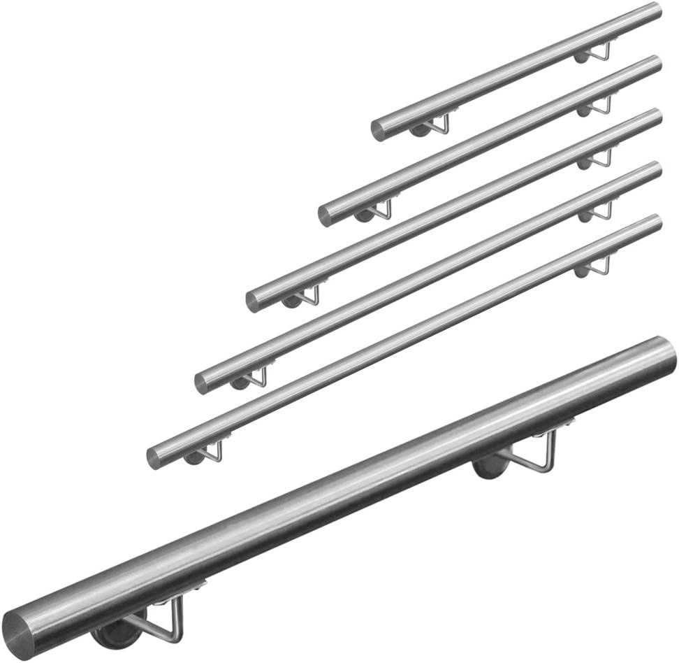 Main courante 304 acier inoxydable rampe escalier barre appui V2Aox 50-600 cm Length:400 cm