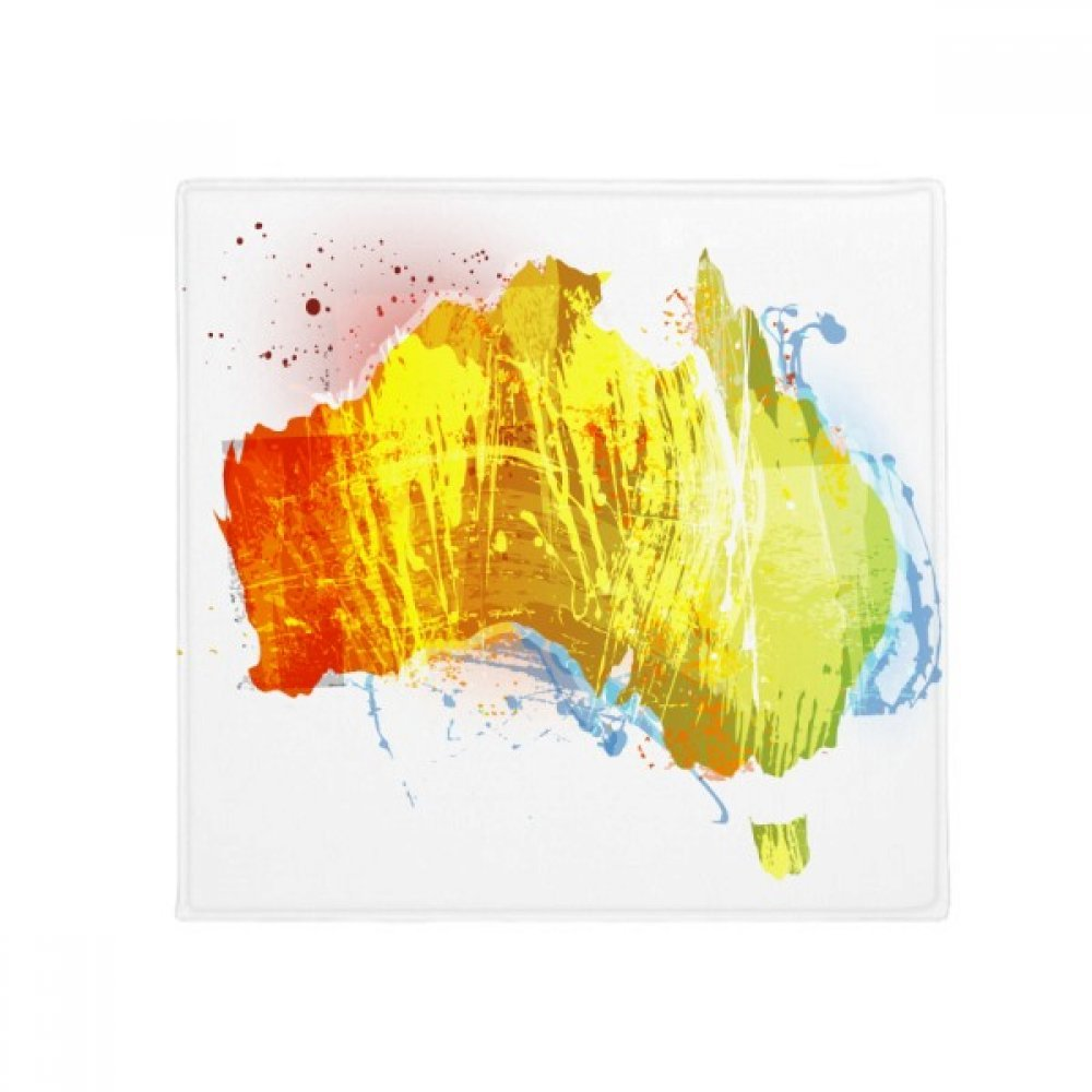 DIYthinker Australia colorful Map Illustration Pattern Anti-Slip Floor Pet Mat Square Home Kitchen Door 80Cm Gift
