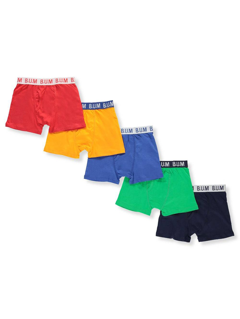 BUM Equipment Boys' 5-Pack Boxer Briefs