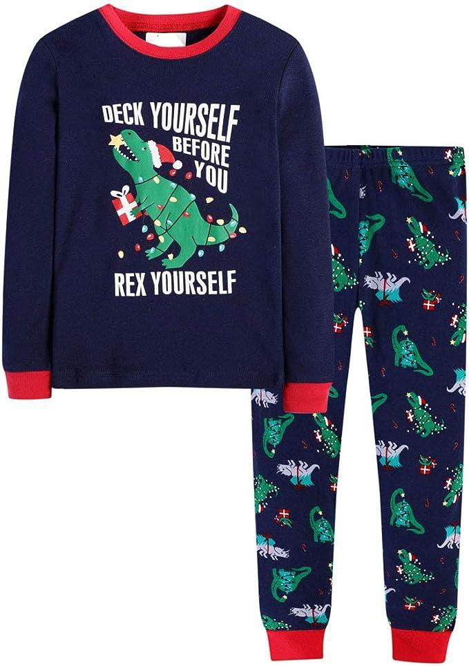 Boys Christmas Pajamas Cotton Sleepwear 2 Piece PJS Kids Clothes Set 2-7T