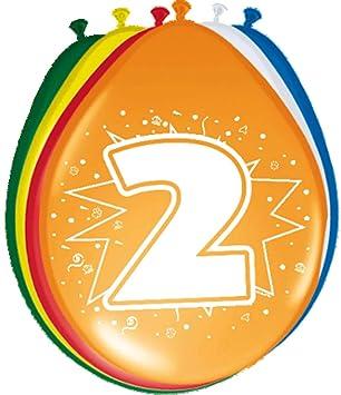 Folat 8 Globos Número 2 Cumpleaños