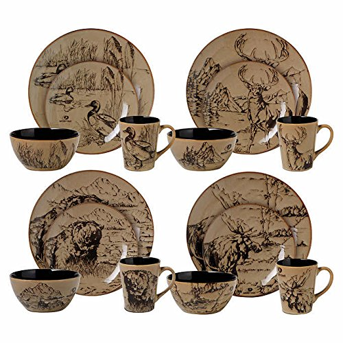 Mossy Oak Lodge Life 16-pc Dinnerware