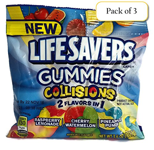 Lifesavers Gummies Collisions, 3.6oz Bag (Pack of 3)