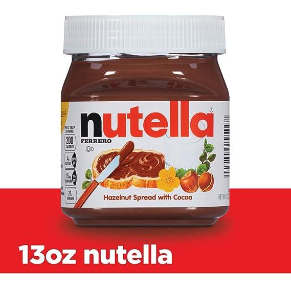 Nutella Hazelnut Spread 13 Ounce Plastic Jar Amazon Co Uk Grocery