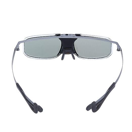 MMSY 3D Obturador Activo Gafas 8M Recargable For Proyector (Color ...