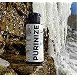 PURINIZE - The Best and Only Patented Natural Water Purifying Solution - Chemical Free Camping and Survival Water Purification 8 Add 20 drops per quart (liter) or 1 tsp. per gallon of water. Shake/stir well & let stand for at least 60 minutes. (Depending on water quality, additio