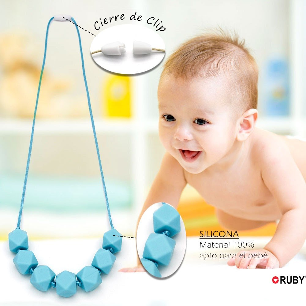 RUBY-Lote 50 Bolas Poliedros Silicona colores mixtos para DIY Mordedores chupetero collar lactancia 100/% apto para bebe 17mmx17mm sin BPA