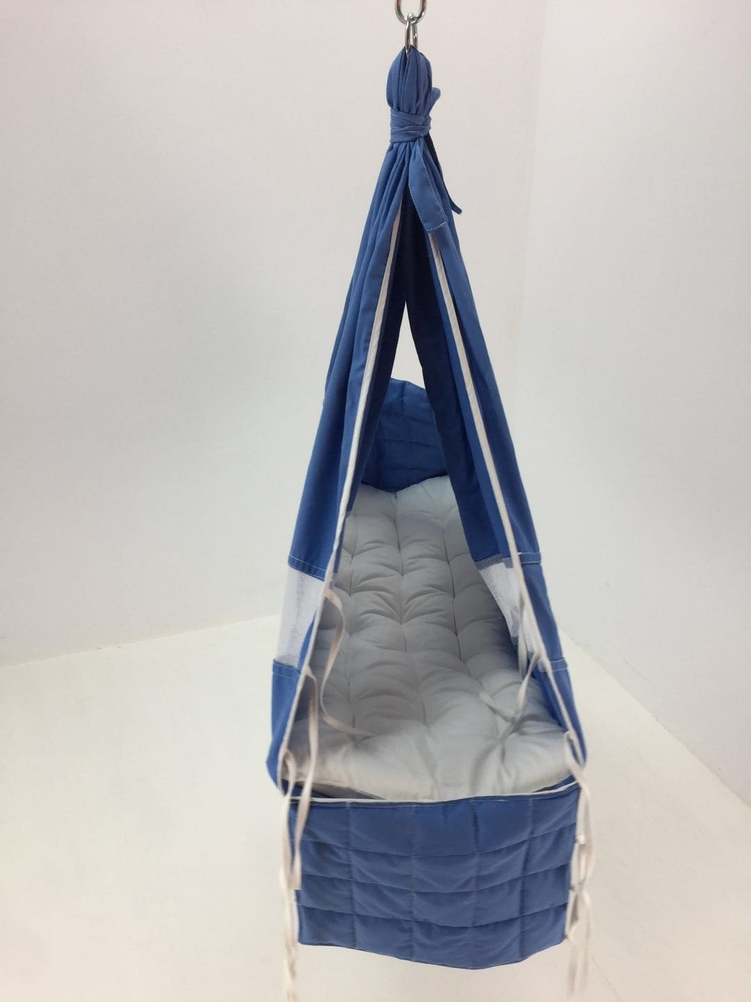 Debris time Baby Hammock Baby Cot Baby Swing Without Metal Frame(blue)