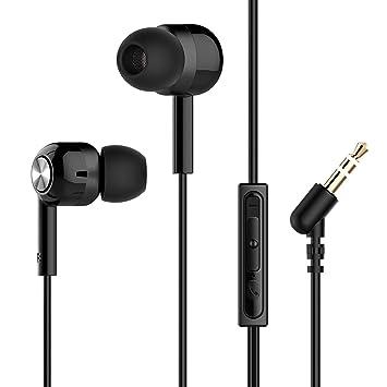 1b5af6b0c58 Mpow Auriculares En oreja Micrófono Estéreo 3.5mm, Auriculares con Control  de Cable Remoto para Móvil, Reproductor MP3 Smartphones Huawei XiaoMi iPhone  6 ...