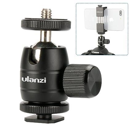 Soporte De Luz De Buceo cámaras base de montaje de zapata Cabezal de bola 1//4 Tornillo Accesorio