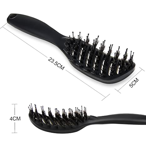 Amazon.com : Detangling Hair Brush 2 Pack for Kids and Adults,Wet brush detangling brush, Boar Bristle Hair Brush set Curved for Women with Long, Thick, ...