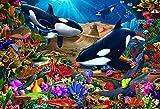 Vermont Christmas Company Wondrous Ocean Kid's Jigsaw Puzzle 100 Piece