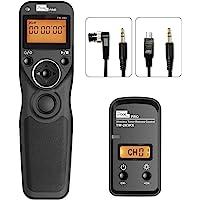 Disparador inalámbrico Cables Disparador Mando a Distancia con 2 Cables de conexión DC0/DC2, Pixel TW-283 2,4GHz Mandos…