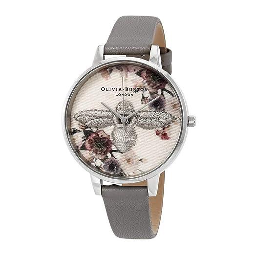 Olivia Burton Reloj Analógico para Mujer de Cuarzo con Correa en Cuero OB16EM05: Amazon.es: Relojes