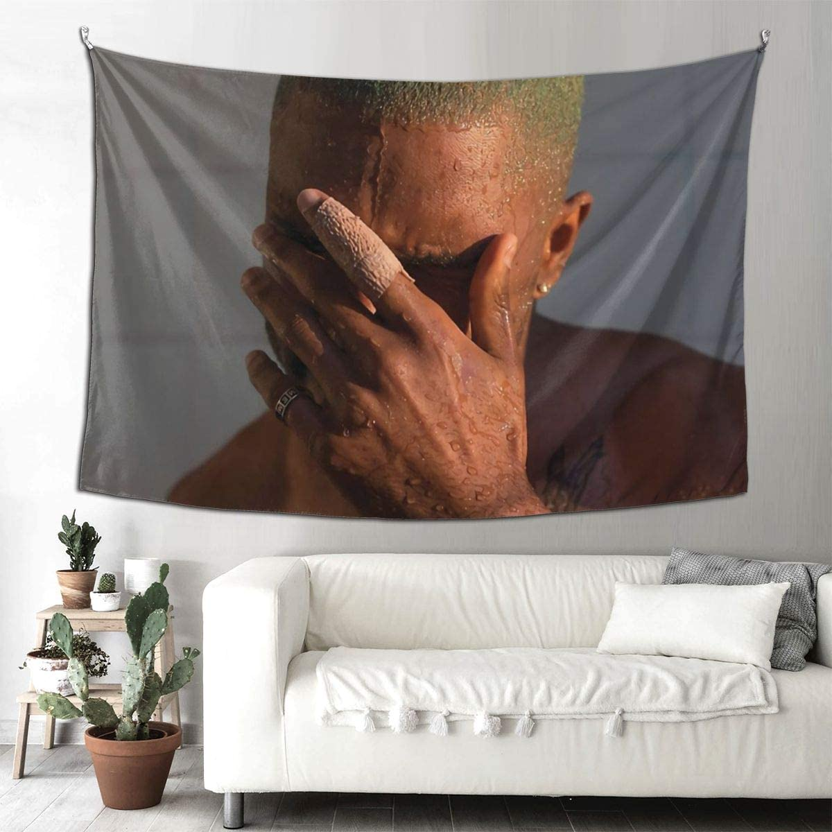 Gyaiaer Frank Ocean Blond Tapestry Boutique Wall Hanging Tapestry Vintage Tapestry Wall Tapestry Micro Fiber Peach Home Decor 90x60inch