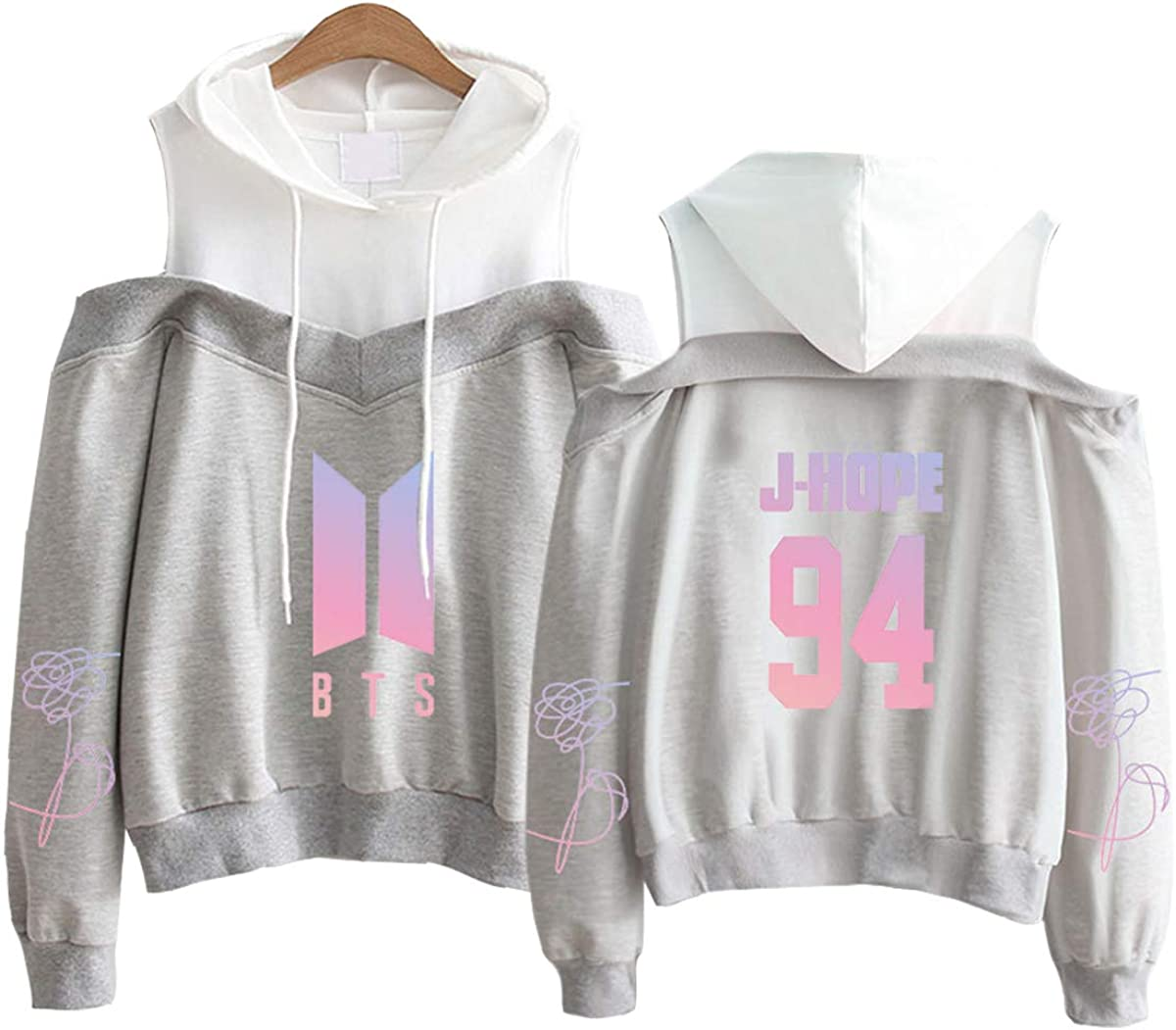 Qaedtls Kpop BTS Off The Shoulder Sweater Jimin Suga V Jungkook Love Yourself Hoodie