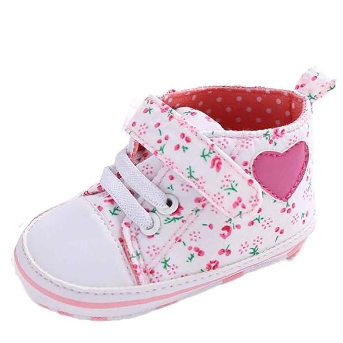 2914d671947 Fossen Recién nacido Zapatos Primeros Pasos Bebe Niña Forma de corazón  Antideslizante Suela Blanda Zapatos  Amazon.es  Ropa y accesorios