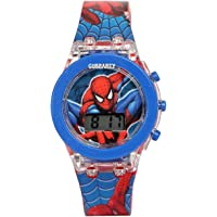 Gubbarey Kids Analog Light Watch - for Boys and Girls (Spider)