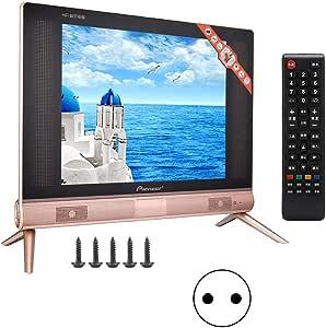 Pbzydu Televisor LCD de Alta definición de 17 Pulgadas, Mini televisor portátil Sonido estéreo 110-240V(UE): Amazon.es: Electrónica