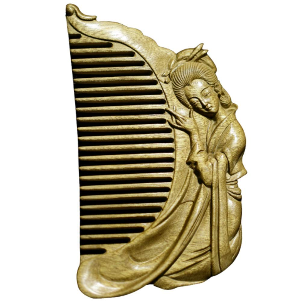 KERVINJESSIE Hand Carved Lady Comb/Ebony Comb Can Send Mothers and Friends (Color : Wood)