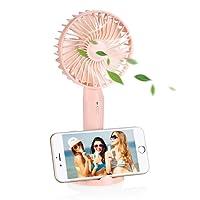 EASEHOLD Ventilateur à Main Portatif Mini Electrique Silencieux Permet de Régler la Vitesse Ventilateur de Poche à Piles Bébé USB pour l'été