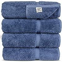 Chakir Linen Dobby Border Turkish 4 Piece Cotton Towel Set