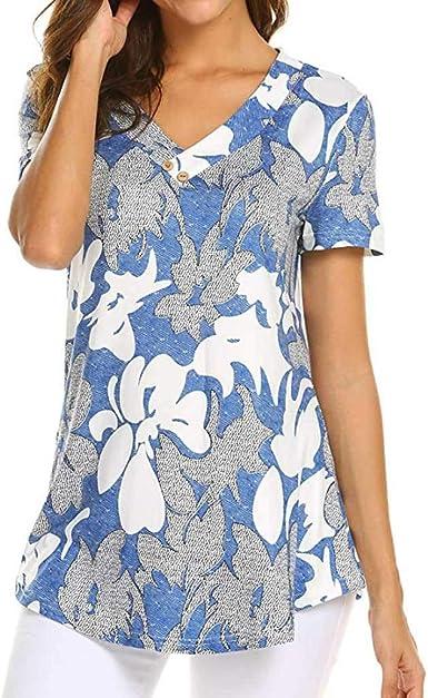 Blusa Superior para Moda Mujer Camiseta De Casual Primavera ...