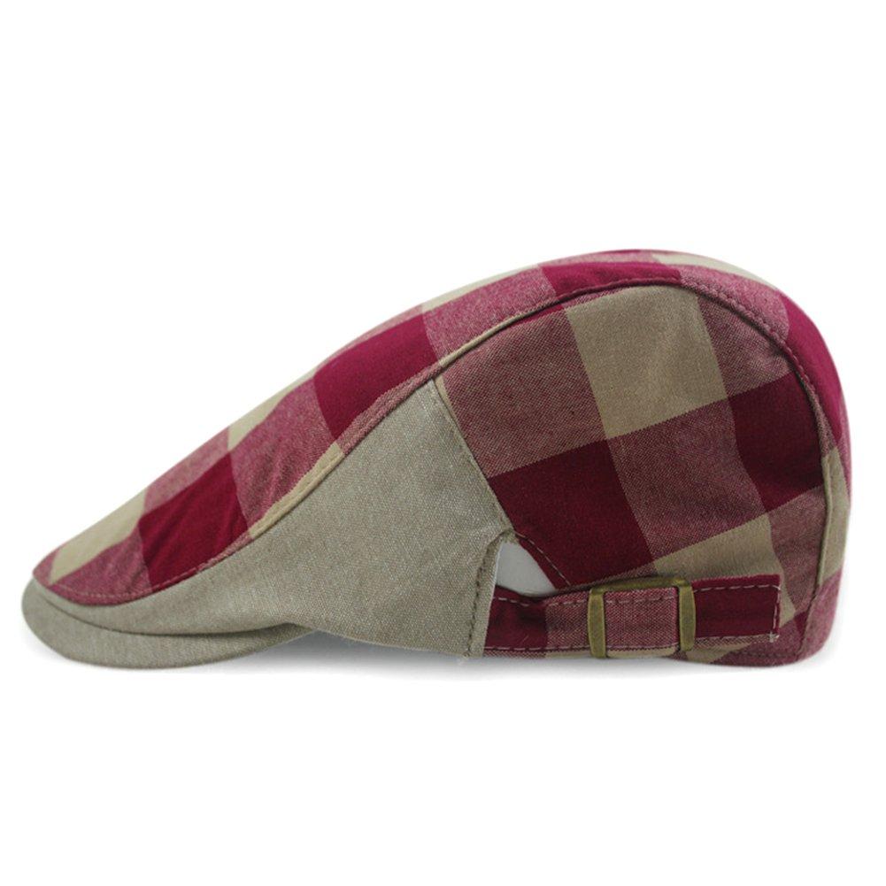 LOCOMO Hats Locomo Checker Check Plaid Tartan Newsboy Beret Cap Hat FFH032