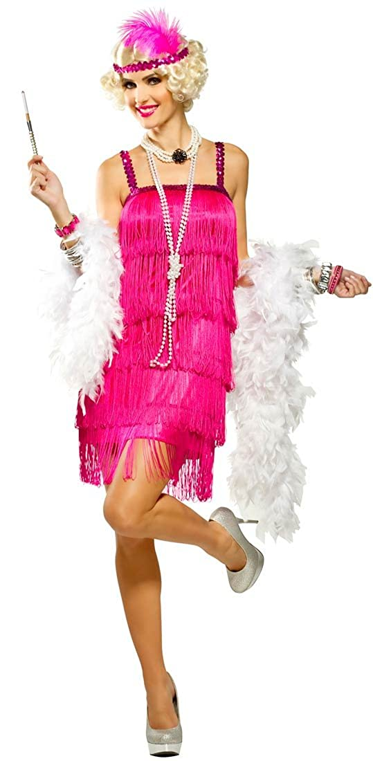 Amazon.com  Magenta Fifth Avenue Flapper Costume - Womens Large (12-14)   Clothing 9a88151397