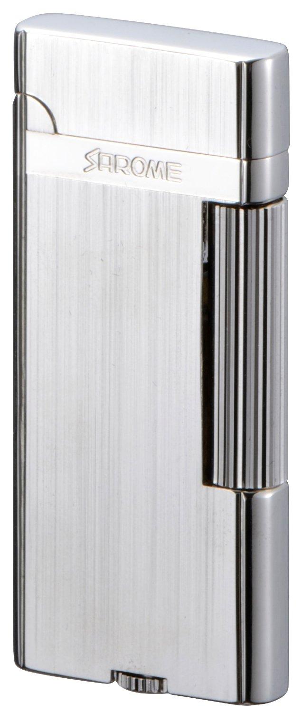 SAROME(サロメ) フリント ガス ライター SD43-01 シルバーヘアライン SD43-01 B0172907VI