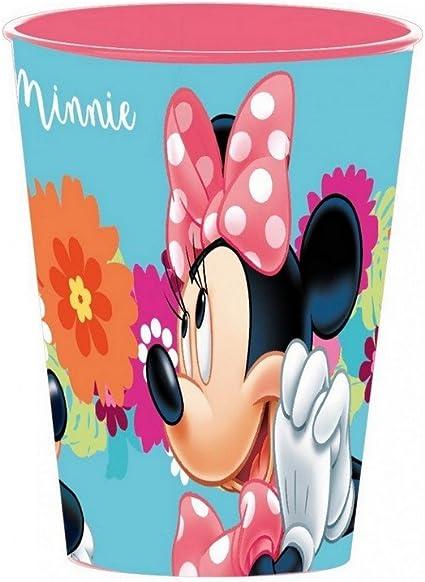 Gobelet Minnie Mouse Disney verre plastique enfant rose fleur