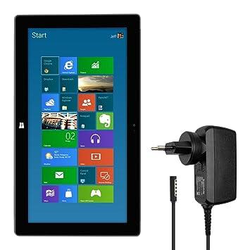 kwmobile Cargador para Microsoft Surface Pro 2 - Cable de Carga [12V 3.6A] para Tablet - Cable para Cargar la batería de Tablets
