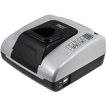 Powery Cargador de batería con USB para AEG Taladro BS 12C ...
