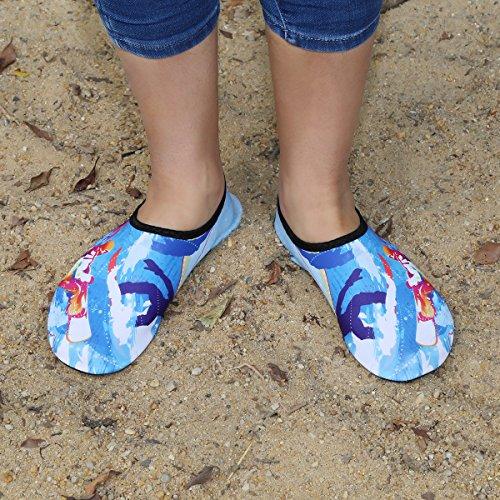 Swim Nudi Acqua Surf Bagno A Donna Scarpette Bambini Beach Yoga Qimaoo Scarpe Antiscivolo Spiaggia Uomo 2 Blue Per Da Piedi Dell'acqua Immersione Acquatici Mare Ragazzi Scoglio fnwHP6qZ