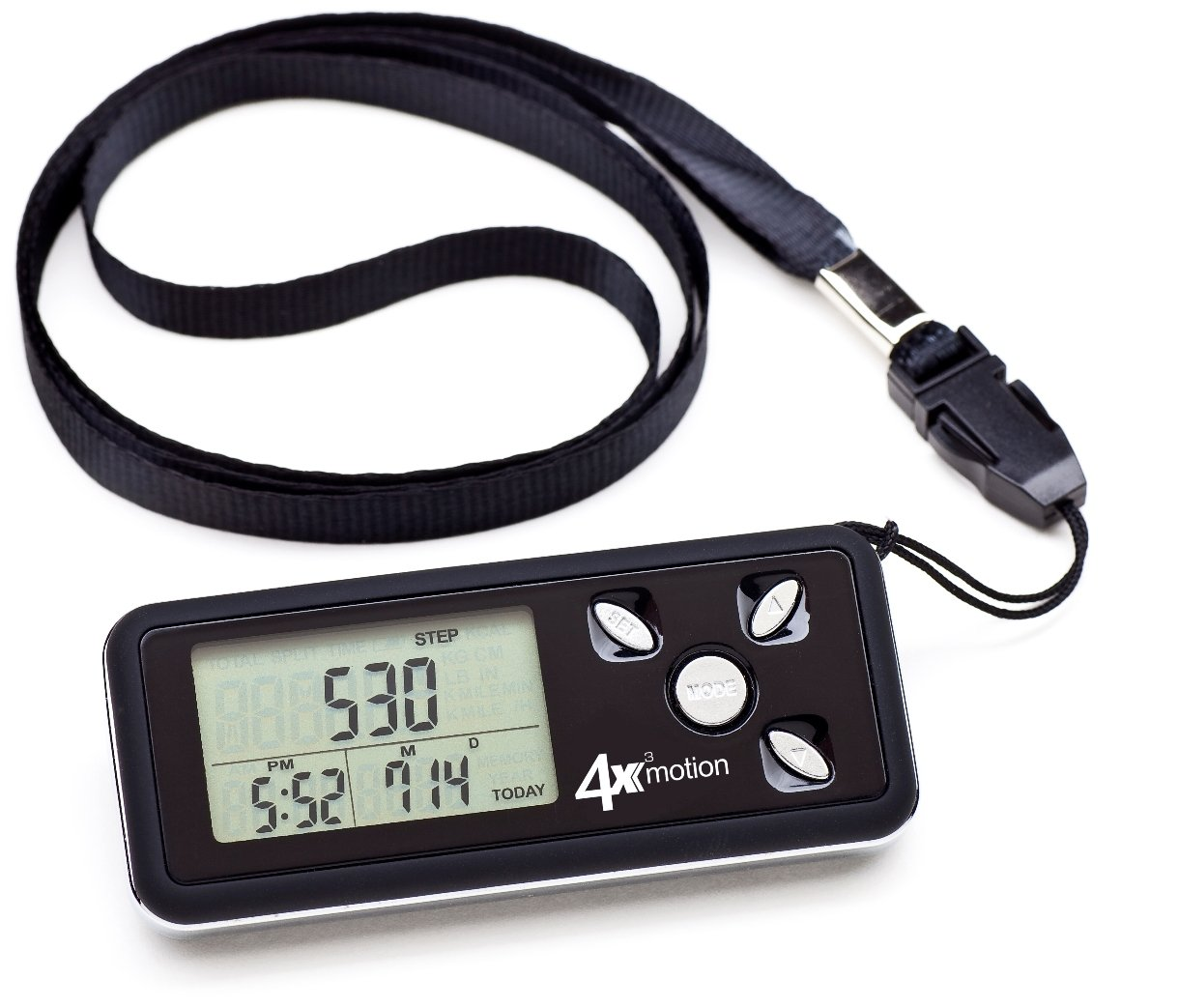 amazon com ozeri 4x3motion digital pocket 3d pedometer with tri
