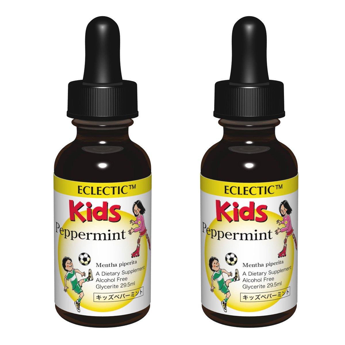 ECLECTIC kids エクレクティック キッズ ペパーミント チンキ 液体 1オンス 29.5ml 2個セット B01MRNICI4