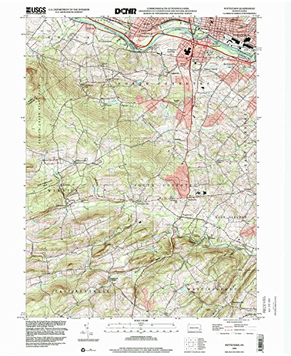 Pottstown PA topo map, 1:24000 scale, 7.5 X 7.5 Minute, Historical, 1999, updated 2001, 27 x 22 IN - - South Pa Village Hills